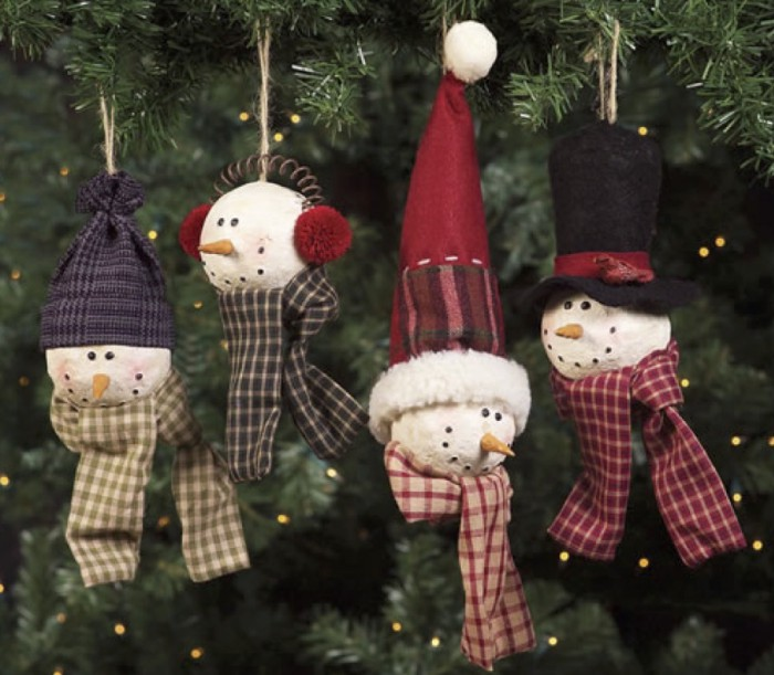 snowmen christmas golf ball ornaments