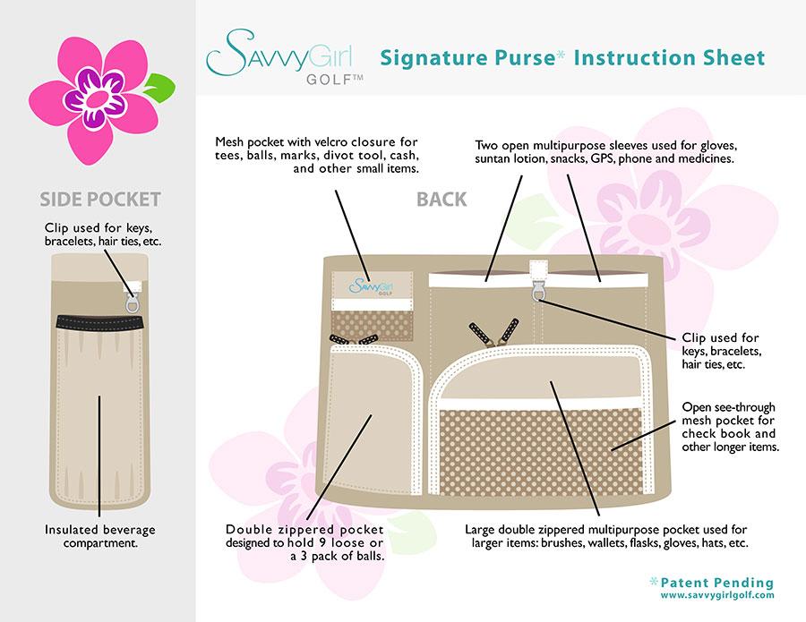 Savvy Girl Signature Instruction Sheet Side 2