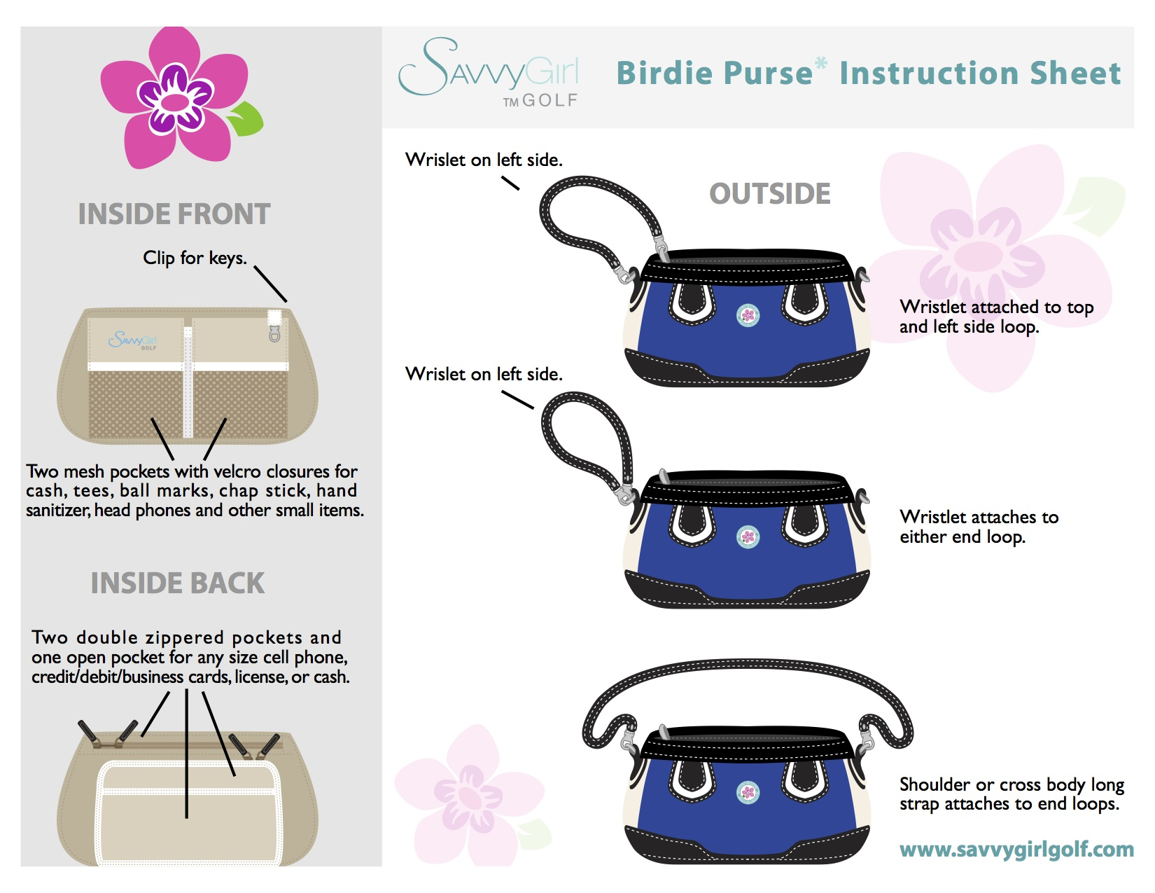Birdie Instruction Sheet
